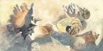 Fiji seashells beach watercolor painting