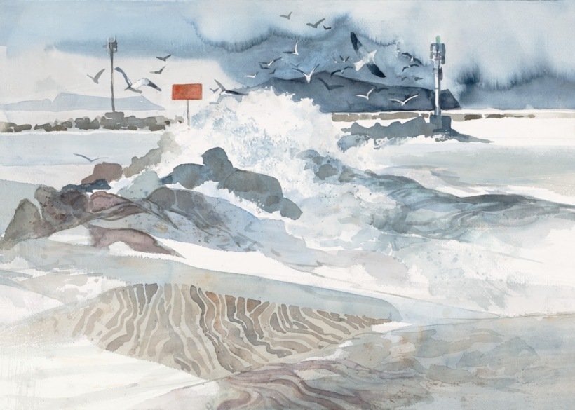 California Coast watercolor painting Margy Gates
