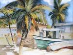 Isla Mujeres Yucatan beach watercolor painting Margy Gates