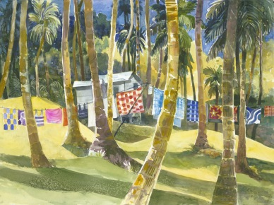 Fiji Island watercolor painting Margy Gates
