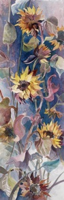 Sunflowers watercolor painting Margy Gates