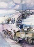 California Port Hueneme pier watercolor painting Margy Gates