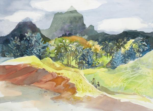 Fiji Island Labasa watercolor painting Margy Gates