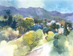 Ojai watercolor painting Margy Gates