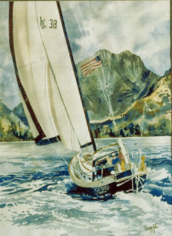 Boat portrait watercolor painting Margy Gates